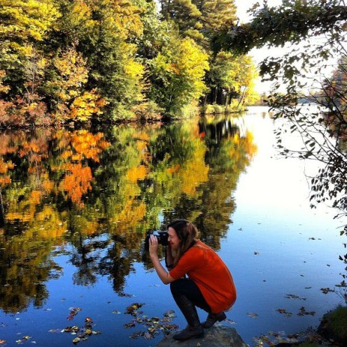 photographing fall